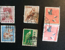 JAPAN; lot of 6 various;  birds, animals used  S*