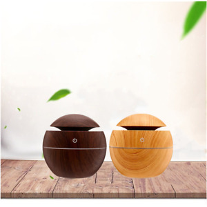 USB Aroma Essential Oil Diffuser Ultrasonic Humidifier Air Purifier 7-Colors LED