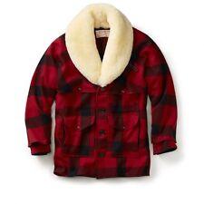 Vintage New! - Filson - Mackinaw Wool Packer Coat - 46 - Red/Black Check