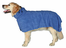 Dog Bathrobe Towel Good Fit Adjustable Collar & Tail Loop Extra Small Dogs XS