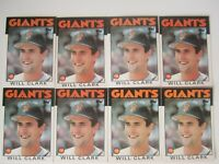 1986 Topps Traded Will Clark RC Rookie #24T Lot of (8) NrMt or Better
