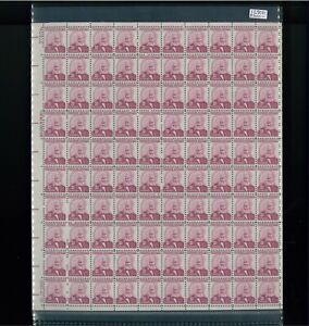 1967 United States Postage Stamp #1290b Plate No 37604 Mint Full Sheet Certified