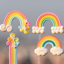 4pcs Rainbow Fairy Garden Micro Landscape Miniature Fairy Garden Decorations M&C