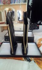 Knee High Boots size 7 / 40 black with gold zip