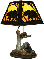 River's Edge Bear Table Lamp with Metal Shade Cabin Country Lodge Rustic Decor