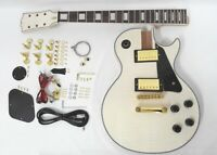 DKE-238DIY Set Neck Electric Guitar DIY Kit,Flame Maple Veneer,No-Soldering