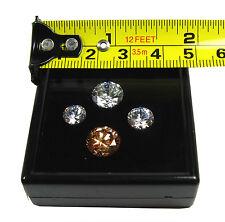 20 PCS TOP GLASS BLACK PLASTIC DIAMOND JEWELRY DISPLAY JAR BOX 5x5cm 1.9x19Inch