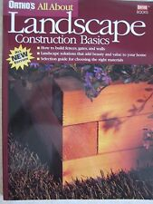 Landscape Construction Basics  - ORTHO All about Book Build Fences Walls Gates
