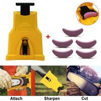 Woodworking Chainsaw Teeth Sharpener Sharpening Grinding Chain + 5 Sharpe Stone
