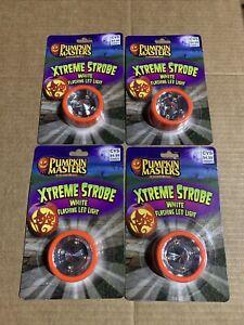 Pumpkin Masters Xtreme Strobe Flashing LED Light - Lot Of 4- New!