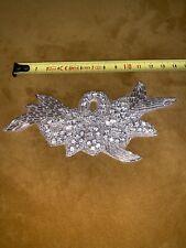 Wedding Dress Applique Rhinestone Crystal Trimming DIY Motif Bridal Bead Deco