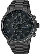 NEW Citizen CA0295-58E Men's NightHawk EcoDrive Chrono Black Ion-Plated Watch