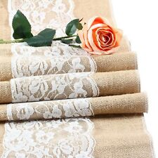 Burlap Hessian Wedding Table Runner Natural Jute Rustic Party Country Decor