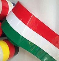 Rotolo adesivo decorativo 300x15cm bandiera ITALIA tuning auto tetto paraurti