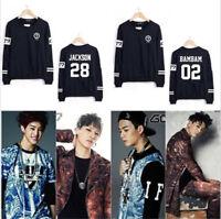 Kpop GOT7 Unisex Casual Jackson Mark JB JR Sweater Sweatshirt Pullover Jumper
