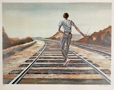 Ernie Barnes 1979 Signed Limited Edition Lithograph Destination Unknown