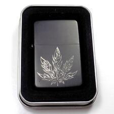 Pot Marijuana 420 Black Gift Engraved Cigarette Lighter Biker Gift LEN-0122