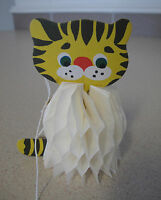 Russian Soviet Christmas Tree Ornament Vintage Paper Little Tiger Тигрёнок 1970s