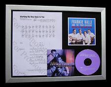 FRANKIE VALLI Working Way Back MUSIC CD QUALITY FRAMED DISPLAY+FAST GLOBAL SHIP