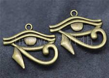 5/20/100pcs Antique Silver Rah Egypt Eye Of Horus Egyptian Charm Pendant 33x26mm