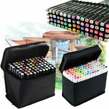 80 Color Set Markers Pen Touch Five Graphic Art Sketch Twin Tip For Student Kids