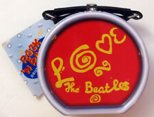 BEATLES LOVE DRUM SHAPED TIN TOTE W /LEATHER-ETTE HANDLE NEVER USED APPLE 2000