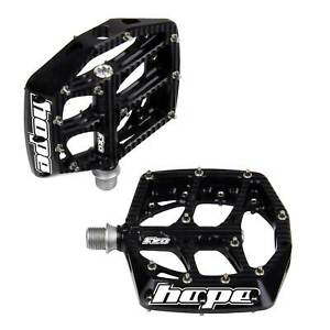 Hope Technology F20 Mountain/MTB Bike/Cycling/Cycle Flat Pedals - Black - Pair