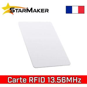 Carte badge RFID 13,56 MHz NFC Tag programmable S50 1 ko