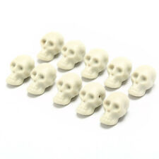 10Pcs Mini Plastic Skull Head Halloween Ghost Small Toy Decor DIY Party Supply