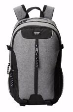 $140 Steve Madden MENS GRAY BLACK BRIEFCASE BACKPACK WORK FLANNEL GYM SCHOOL BAG