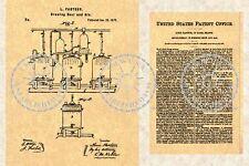 1873 Patent - BEER BREWING Louis Pasteur - Brewery #590