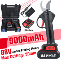 Electric 88V Cordless Rechargeable Pruning Shears Secateur Branch Cutter 9000mAh