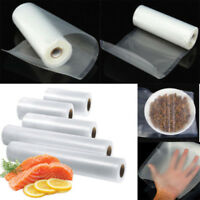 Multi Size Clear Vacuum Sealer Bags Rolls Food Saver Seal Storage For Freezer CA