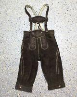 Kinder Trachten Wildbock Lederhose Grösse 122/128 Kniebund K006