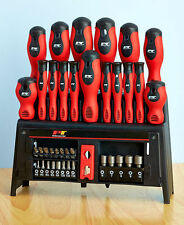 39-Pc Screwdriver Set W/ Rack Star Hex Flathead & Phillips Magnetic Tips Tools