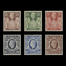 Great Britain 1939 (MNH) High Value Arms Definitives