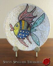 Vintage Spanish Faience Sanguino Toledo Decorative Pottery Fish Plate