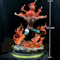 """Anime Naruto Might Guy Painted 12"""" PVC Figure Model Toy With LED Light With Box"""