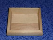 Boîte en bois  rectangulaire à décorer (14x12x4,3cm)
