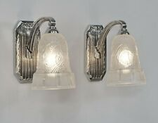 HETTIER & VINCENT : pair of French 1930 art deco wall sconces  #1... lamp France
