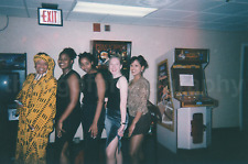 Found Photo GIRLS Gun's And Roses Pinball Machine FREE SHIPPING Arcade COLOR 782