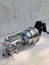 "67-72 Chevy C10 7"" chrome power brake booster master cylinder 4 wheel disc valve"