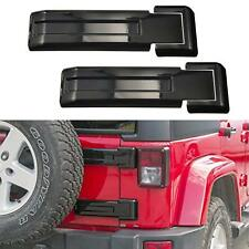 Black Tailgate Hinge Trim Covers Fit 2007-2018 Jeep Wrangler JK Unlimited Parts