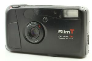 【AS IS for Repair 】 Kyocera Slim T Black Yashica T4 35mm Point & Shoot Japan 297