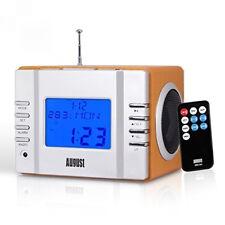 August - Radio-réveilcube Lecteur Mp3 avec Radio Fm. Lecteur de Carte. Port USB