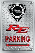 Metal Parking Sign  Rotary Mazda Style RE-NEW#15 - Checkerplate Look