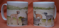 ITALIAN GREYHOUND DOG MUG OFF TO THE DOG SHOW WATERCOLOUR PRINT SANDRA COEN ART