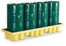 4 Drum In-line Containment Pallet - Sump Pallet -  Cost Effective Drum Storage
