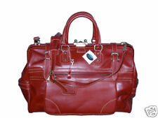 Medium Cordovan Leather Travel Bag with Shoulder Strap