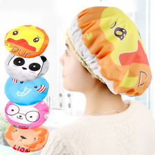 Funny Animals Shower Hair Cap Waterproof Bathroom Hat Toiletry Kids Adult Unisex